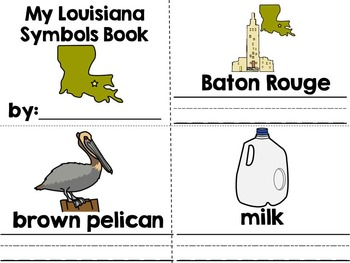 Louisiana--an Adapted Interactive Book on State Facts & Symbols {Autism, SLP}