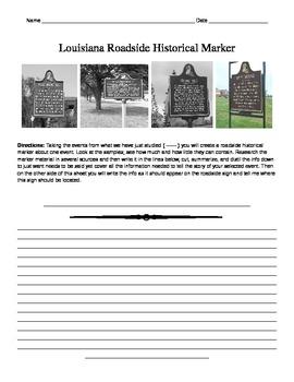LOUISIANA - roadside marker