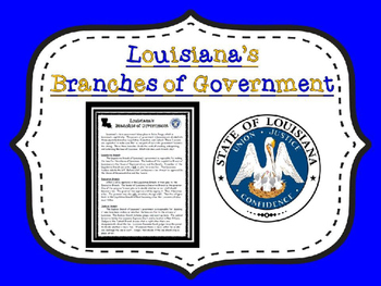 Louisiana Branches of Government Article