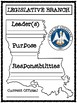 Louisiana's Branches of Government Graphic Organizers
