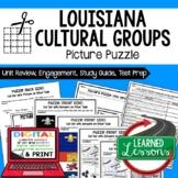 Louisiana's Cultural Groups Picture Puzzle, Test Prep Unit