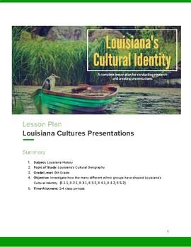 Louisiana's Cultural Identity Presentation Lesson Plan