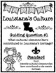Louisiana's Culture Guiding Question Writing Task with Accompanying Rubric