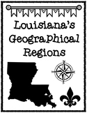 Louisiana's Geographical Regions Graphic Organizer & Fleur