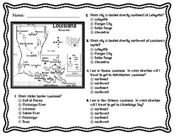 Louisiana's Geography -- Compass Rose Activity