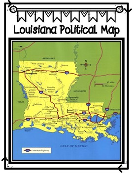 Louisiana's Geography: Physical and Political Maps
