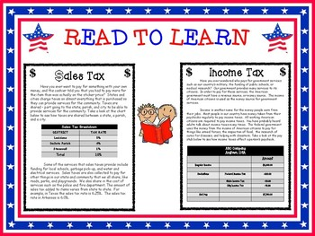 Louisiana's Government Formative Sales Tax Instructional Task