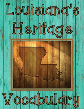 Third Grade Louisiana's Heritage Unit 2 Vocabulary Game