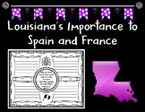 Louisiana's Importance to Spain and France Brainstorming Graphic Organizer