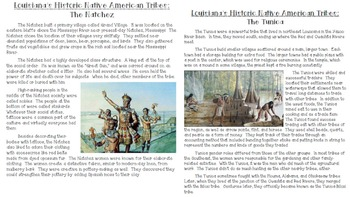 Louisiana's Native American Tribes Informational Articles & Map