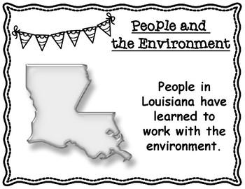 Louisiana's People and the Environment Activity Sheet