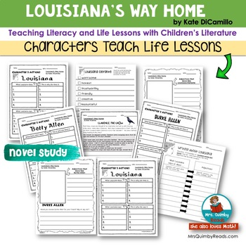 Louisiana's Way Home   Book Companion   Reader Response Pages   Literacy