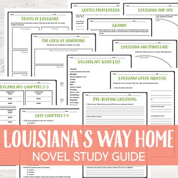 Louisiana's Way Home by Kate DiCamillo Novel Study