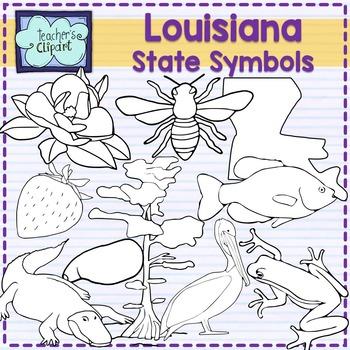 Louisiana state symbols clipart