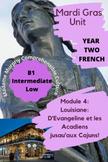 Louisiane & les Cajuns| Mardi Gras| Comprehensible Input Unit Plan / Novice High