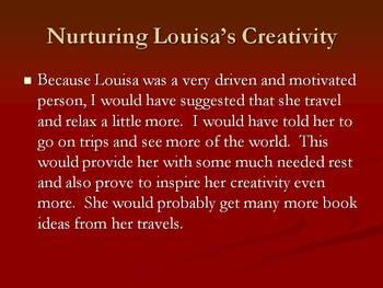 Lousia May Alcott and Creativity PowerPoint Presentation
