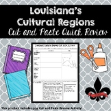 Lousiana's Cultural Regions Cut and Paste Review--NO PREP