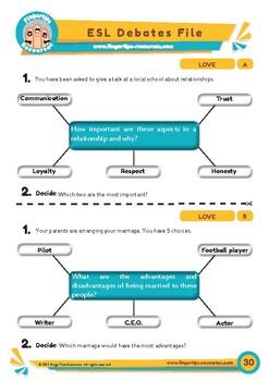 Love - 2 x ESL Debates Activities