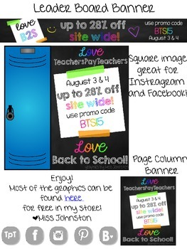 Love Back To School TpT Sale 2015- Graphics FREEBIE