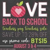 Love Back to School Sale Button