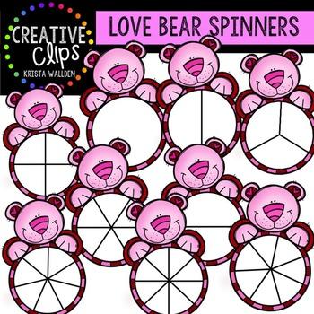 Love Bear Spinners {Creative Clips Digital Clipart}