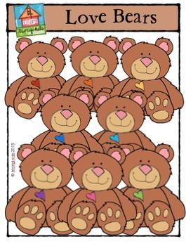 Love Bears {P4 Clips Trioriginals Digital Clip Art}