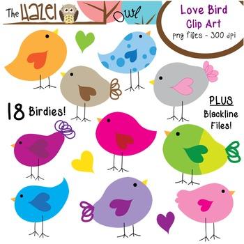 Love Bird Set: Clip Art Graphics for Teachers