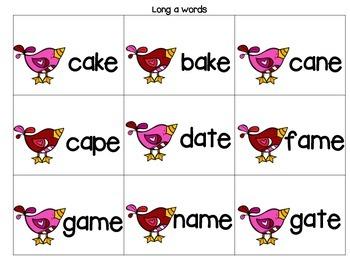 Love Birds CVCE and CCVC Games