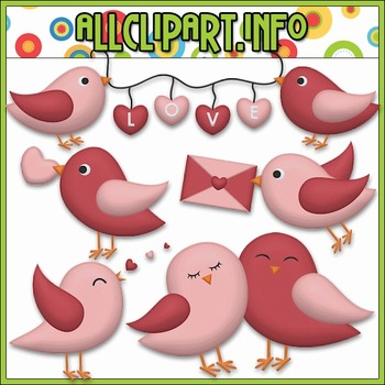 BUNDLED SET - Love Birds Clip Art & Digital Stamp Bundle