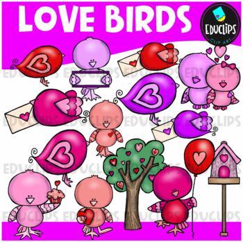 Love Birds Clip Art Bundle