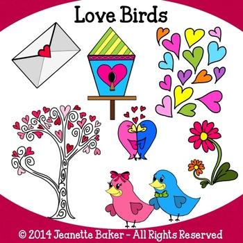 Love Birds Clip Art by Jeanette Baker