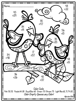 Love Birds Color by the Code