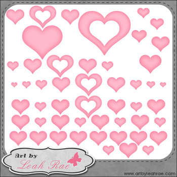 Love Birds Hearts and Dividers 1 - Art by Leah Rae Clip Art & Digi Stamps