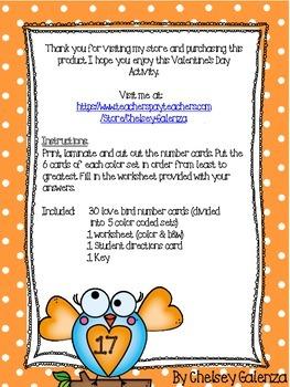 Valenine's Day Love Birds: Least To Greatest