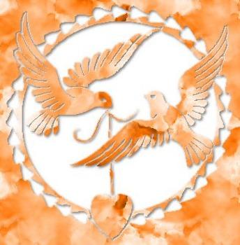 Love-Birds Valentine 3D Cut-Out Clip Art