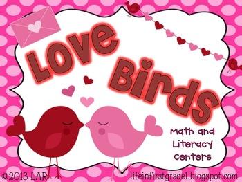 Love Birds Valentine Math and Literacy Centers {12}
