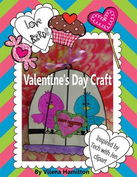 """""""Love Birds"""" Valentine's Day Craft"""