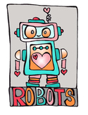 Love Bot Robot Valentines Day Clip Art