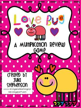 """Love Bug""- A Multiplication Fact Fluency Game"
