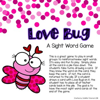 Love Bug! A Sight Word Game
