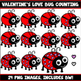 Love Bug Counting Clipart (Valentine's Day)