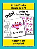 Love Bug - Cut & Paste Craft - Mini Craftivity for Pre-K &