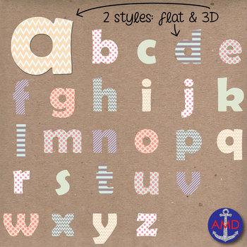 Love Bug Matching Digital Alphabet & Numbers Clip Art Set- Letter Tiles