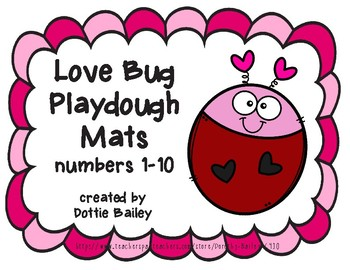 Love Bug Playdough Mats Counting 1-10