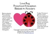 Love Bug Preschool Articulation