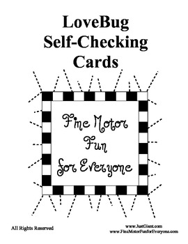 Love Bug Self - Checking Cards - Adorable and Easy to Make - CONTRACTIONS