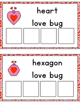 Love Bug Shape Sorting