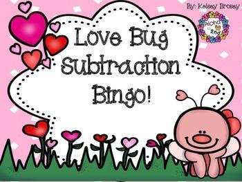 Love Bug Subtraction Bingo