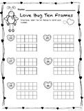 Valentine's Ten Frames / Teen Frames:  Love Bug Ten Frames (Teen Numbers)