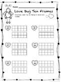 Valentine's Ten Frames / Teen Frames:  Love Bug Ten Frames